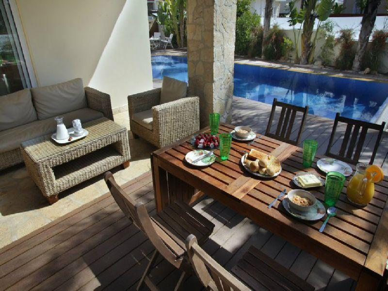 Outdoor Dining Table and Sofa